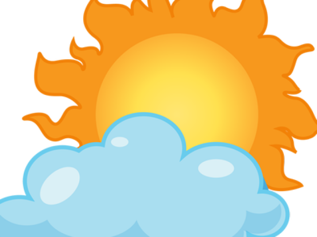 Sunny cloudy weather clipart clipart freeuse library Weather Clipart Cloudy - Sunny Png , Transparent Cartoon ... clipart freeuse library