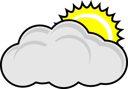 Sunny day with clouds clipart banner 38+ Cloudy Clipart   ClipartLook banner