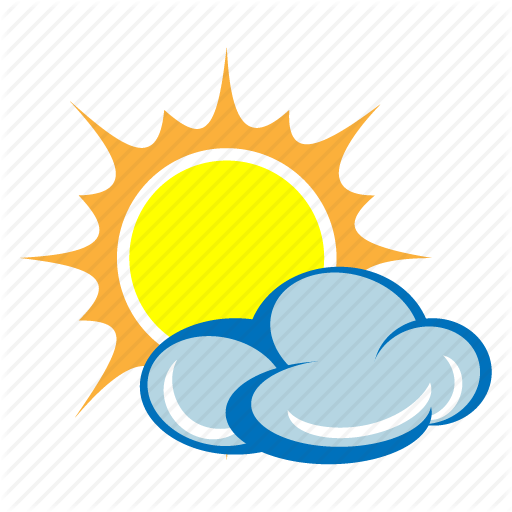 Sunny day with clouds clipart svg transparent stock \'Weather Elements\' by Designers Drift svg transparent stock
