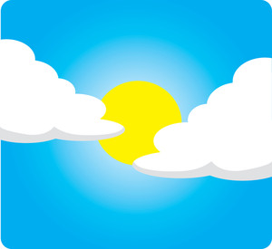 Sunny day with clouds clipart svg free stock Clip Art Illustration of a Sunny Day With Clouds   Weather ... svg free stock