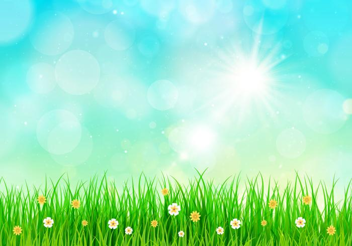 Sunny grass background clipart jpg black and white stock Sunny Sky Spring Background - Download Free Vectors, Clipart ... jpg black and white stock