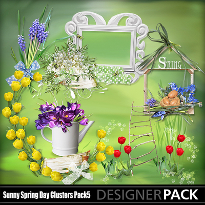 Sunny spring day clipart vector library download Clip Art | Sunny Spring Day Clusters5-(lemur) | Decorative ... vector library download