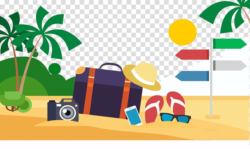 Sunny vacation clipart banner royalty free library Beach Illustration, Sunny beach transparent background PNG ... banner royalty free library