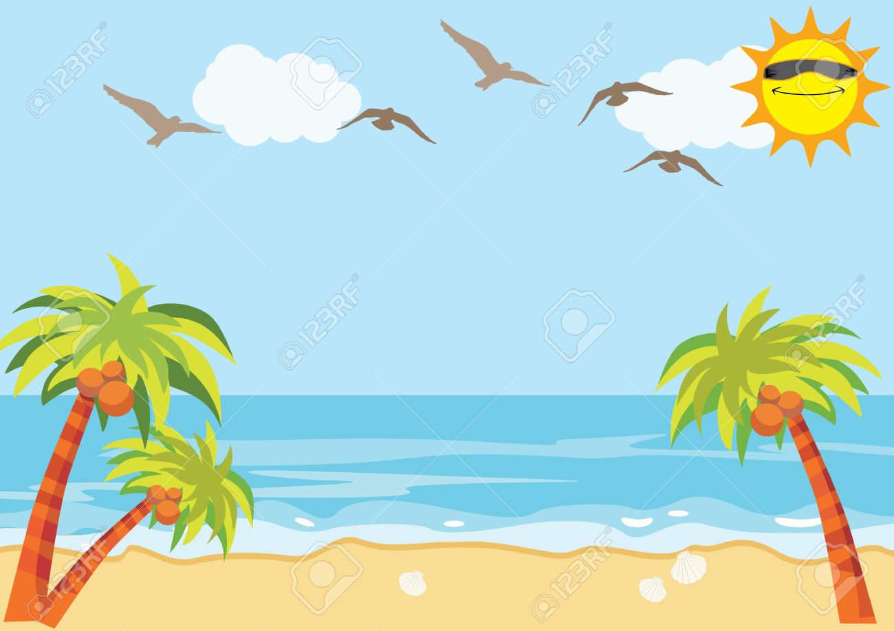 Sunny vacation clipart black and white download Free Vacation Background Cliparts, Download Free Clip Art ... black and white download