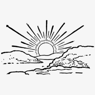 Sunrise black and white clipart picture black and white library Free White Sun Clipart Cliparts, Silhouettes, Cartoons Free ... picture black and white library