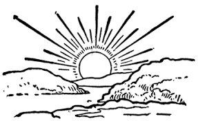 Sunrise black and white clipart picture royalty free download Image result for sunrise line art | Sunrise | Sunrise ... picture royalty free download
