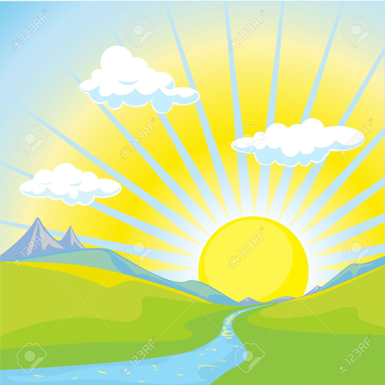 Morning clipart clip art library library 82+ Clipart Sunrise | ClipartLook clip art library library