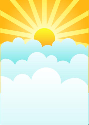 Sunrise public domain clipart transparent image transparent Sun rising above clouds vector drawing   Public domain ... image transparent