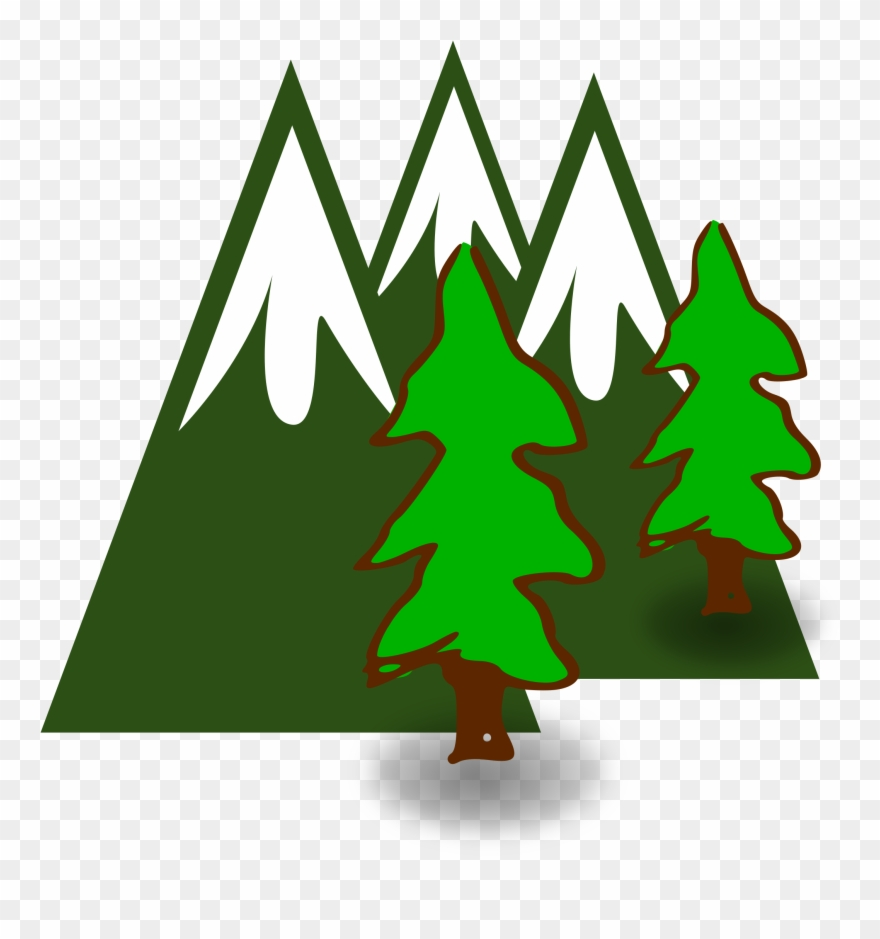 Sunrise with pinetrees clipart vector freeuse Mountain Tree Cliparts - Mountain Clipart - Png Download ... vector freeuse