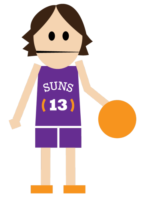 Suns basketball clipart clip free library Double Scribble clip free library