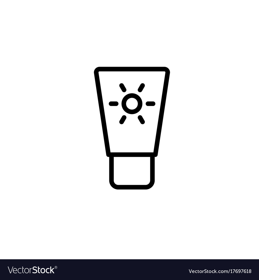 Sunscreen black and white clipart picture black and white download Sunscreen icon thin line black on white background picture black and white download