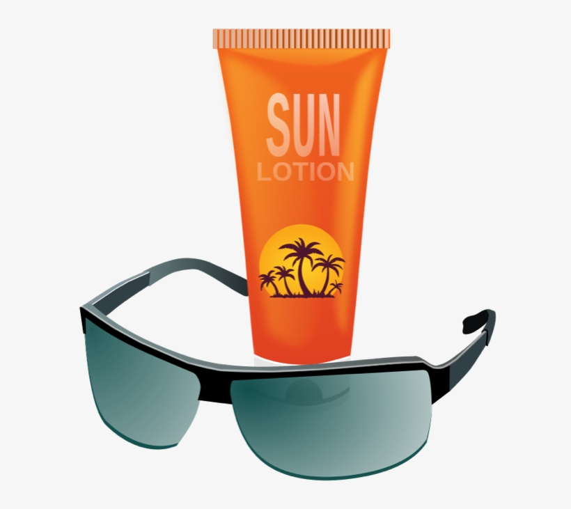 Sunscreen lotion clipart image black and white library Sunscreen - Clipart - Sunblock And Sunglasses Transparent ... image black and white library
