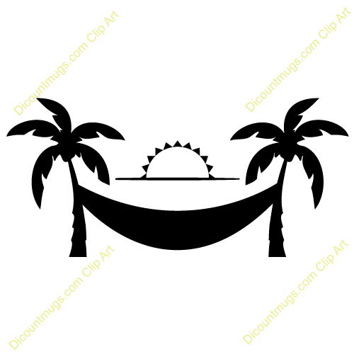 Sunset trees and hammock clipart black and white vector free stock Palm Tree Clipart Black And White | Free download best Palm ... vector free stock