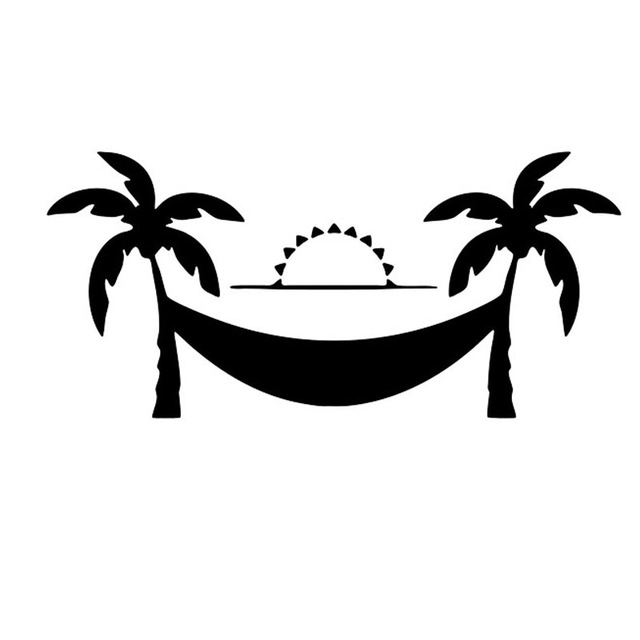 Sunset trees and hammock clipart black and white png free Collection of Hammock clipart | Free download best Hammock ... png free