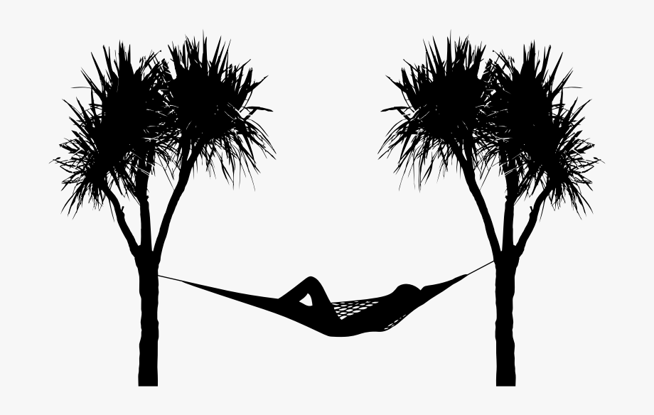 Sunset trees and hammock clipart black and white clip black and white library Hammock Silhouette By Karen Arnold - Palm Tree Hammock ... clip black and white library