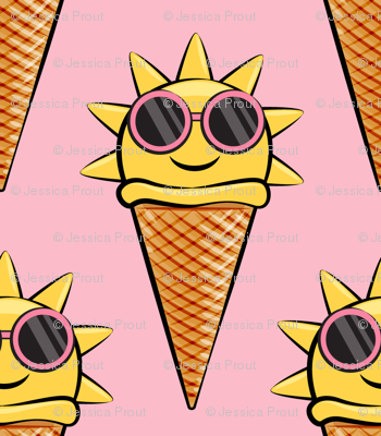 Sunshine and ice cream clipart clip royalty free library sunshine icecream cones (with glasses) pink wallpaper ... clip royalty free library