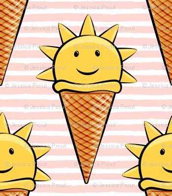 Sunshine and ice cream clipart svg library sunshine icecream cones on pink stripes wallpaper ... svg library