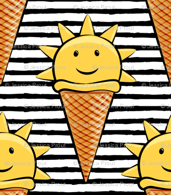 Sunshine and ice cream clipart banner royalty free download sunshine icecream cones on black stripes wallpaper ... banner royalty free download