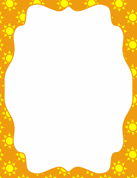 Sunshine border clipart jpg free Pin by Muse Printables on Page Borders and Border Clip Art ... jpg free