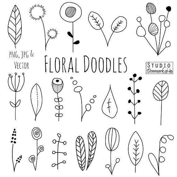 Sunshine flower and arrows doodle border clipart png royalty free Doodle Flowers Clipart and Vectors - Hand Drawn Flower and ... png royalty free