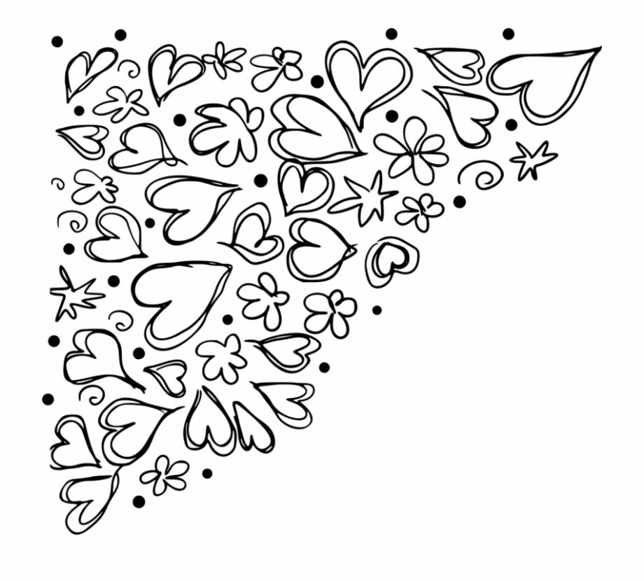 Sunshine flower and arrows doodle border clipart clipart freeuse download Free Doodle Png - Transparent Corner Doodles Free PNG Images ... clipart freeuse download