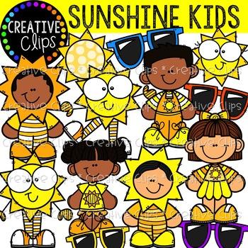 Sunshine kids clipart clip art black and white library Sunshine Kids {Creative Clips Clipart} clip art black and white library