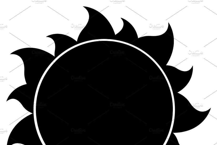 Sunshine silhouette clipart jpg black and white stock Black Silhouette Sun jpg black and white stock