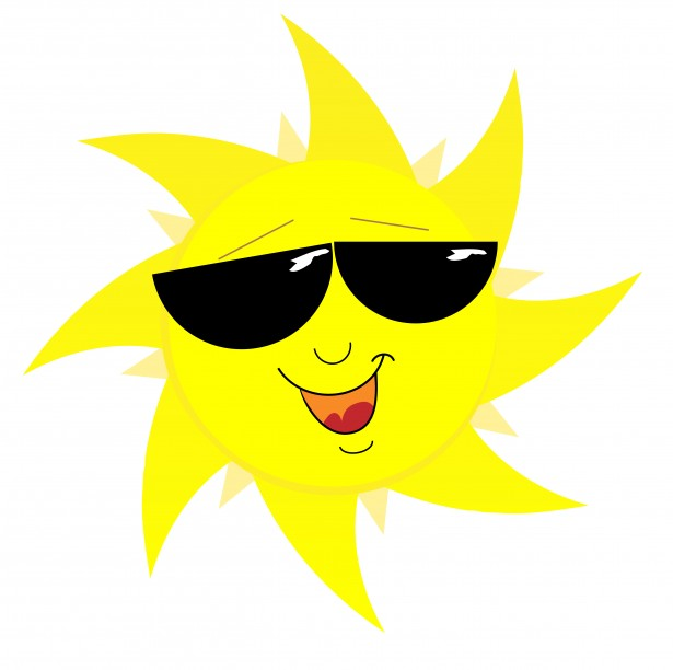 Sunshine with sunglasses clipart clipart royalty free download Smiling Sun Face In Sunglasses Free Stock Photo - Public ... clipart royalty free download