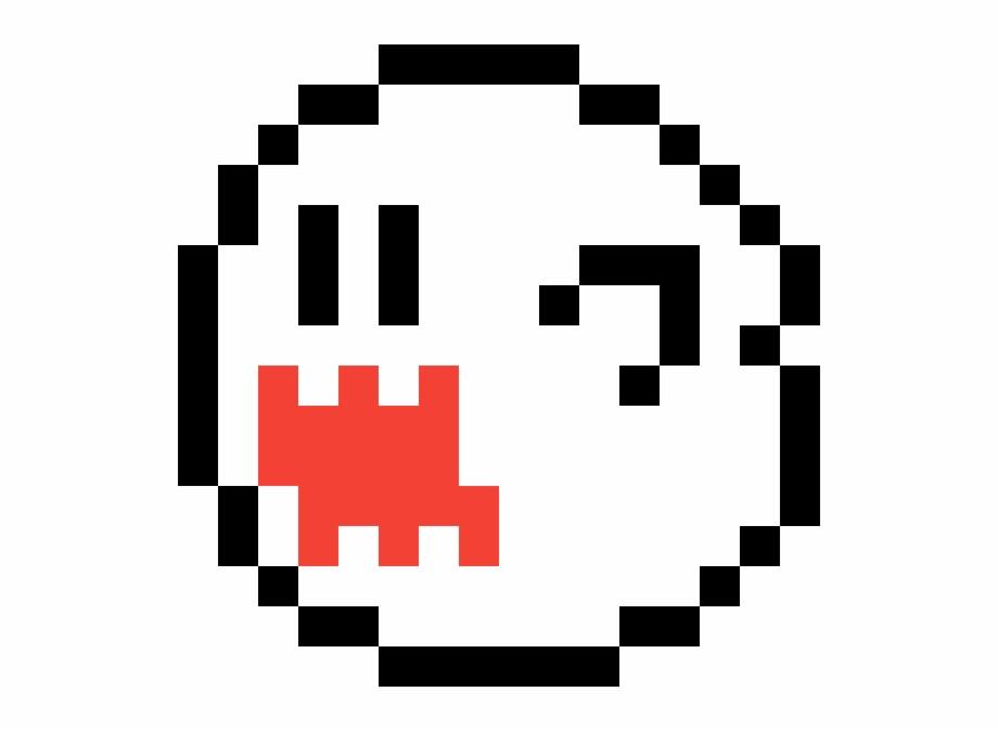 Super 8 clipart png download Boo Super Mario Ghost 8 Bit - Clip Art Library png download