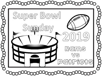 Super bowl clipart 2019 banner black and white stock Super Bowl 2019 coloring pages and activities #sbdollardeal banner black and white stock