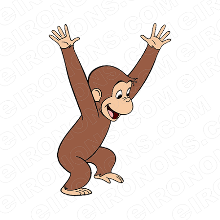 Super courious animal clipart banner CURIOUS GEORGE PLAYING CHARACTER CLIPART PNG IMAGE SCRAPBOOK INSTANT  DOWNLOAD banner