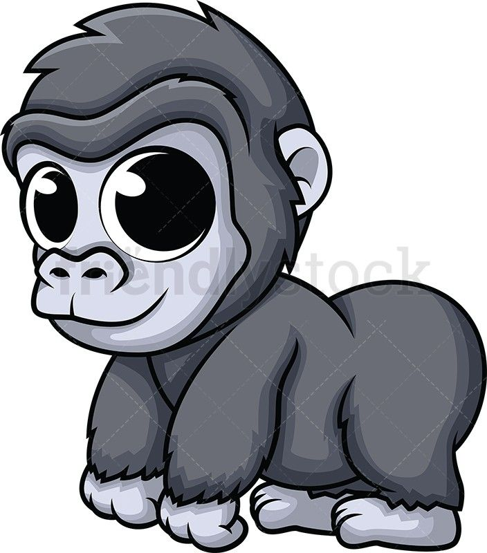 Super courious animal clipart jpg library Baby gorilla | Animals | Baby gorillas, Cute drawings, Cute ... jpg library