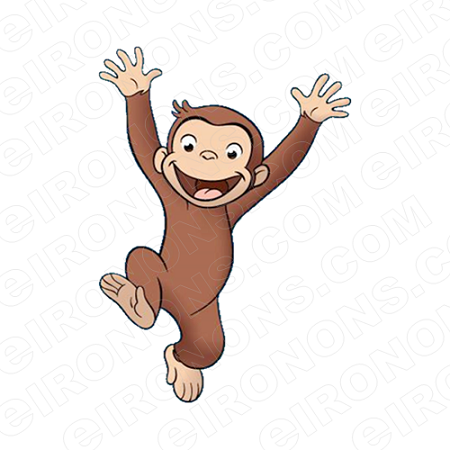 Super courious animal clipart banner black and white download CURIOUS GEORGE JUMPING CHARACTER CLIPART PNG IMAGE SCRAPBOOK INSTANT  DOWNLOAD banner black and white download