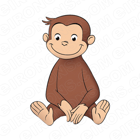 Super courious animal clipart banner stock CURIOUS GEORGE SITTING CHARACTER CLIPART PNG IMAGE SCRAPBOOK INSTANT  DOWNLOAD banner stock