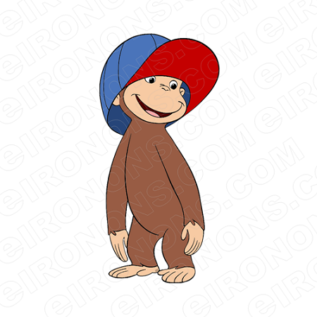 Super courious animal clipart jpg download CURIOUS GEORGE HAT ON CHARACTER CLIPART PNG IMAGE SCRAPBOOK INSTANT DOWNLOAD jpg download