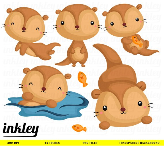 Super cute baby otters clipart svg black and white stock Otter clipart otter swimming - 46 transparent clip arts ... svg black and white stock