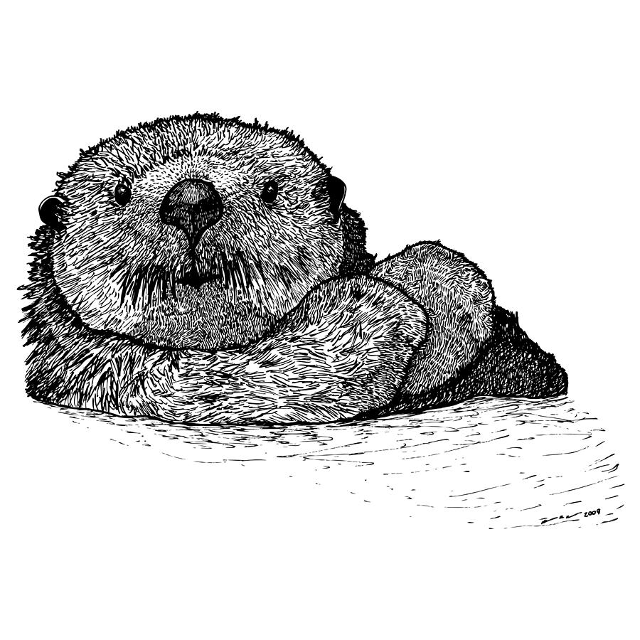 Super cute baby otters clipart png black and white Cuddling Otters Cute Super Cute Otter - Clip Art Library png black and white