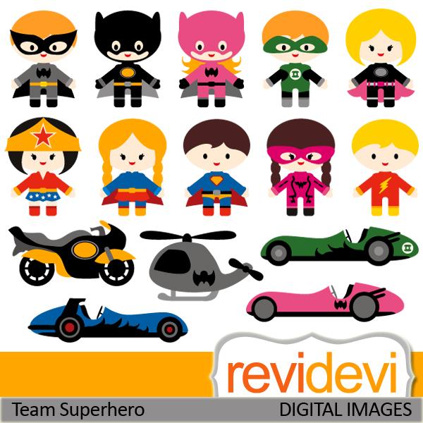 Super cute super hero baby clipart