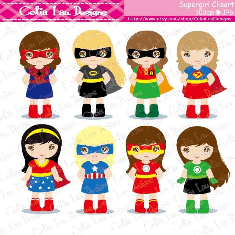 Super cute super hero baby clipart image black and white Superhero clipart | Etsy image black and white