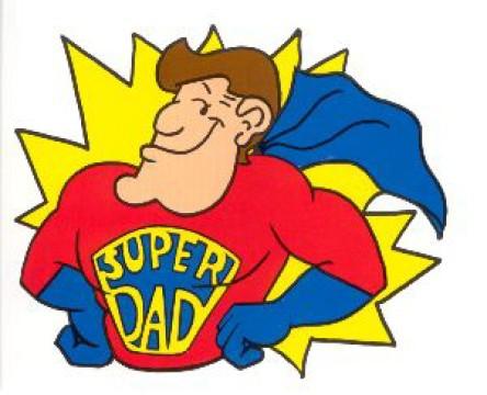 Super dad clipart black and white Super dad clipart - ClipartFest black and white