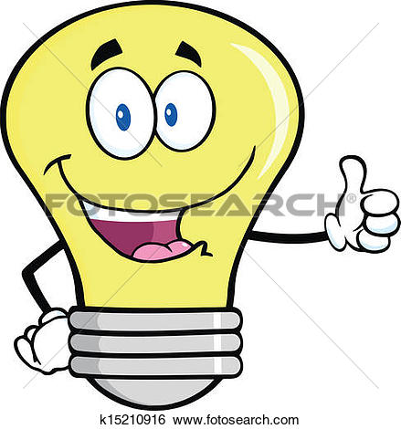 Super daumen clipart transparent library Clipart of Smiling Light Bulb Character k15210943 - Search Clip ... transparent library