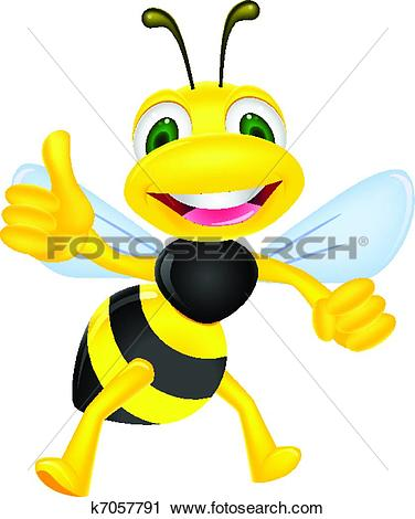 Super daumen clipart png stock Clipart of Cute bee cartoon thumb up k14084550 - Search Clip Art ... png stock