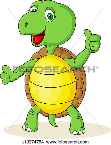 Super daumen clipart banner library library Stock Illustration of Turtle cartoon with thumb up k9438199 ... banner library library