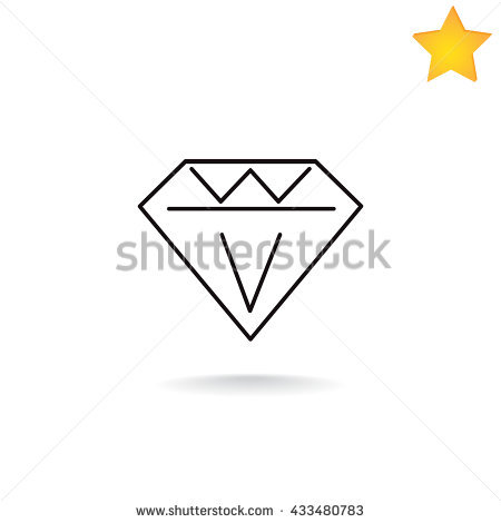 Super diamong outline clipart graphic royalty free library Diamond Shape Stock Images, Royalty-Free Images & Vectors ... graphic royalty free library