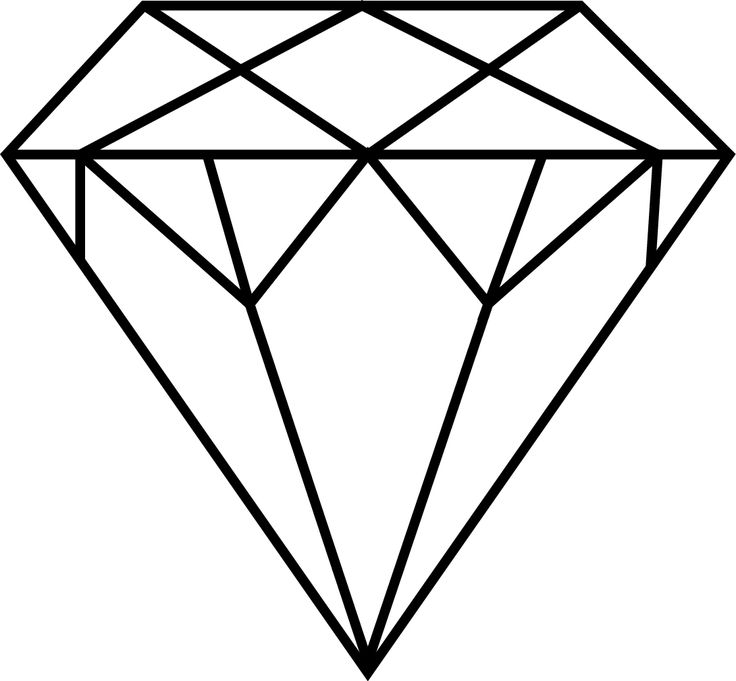 Super diamong outline clipart image black and white 17 Best ideas about Diamond Drawing on Pinterest   Diamond art ... image black and white