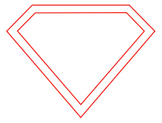 Super diamong outline clipart image royalty free stock Superman Diamond Outline Clipart - Clipart Kid image royalty free stock