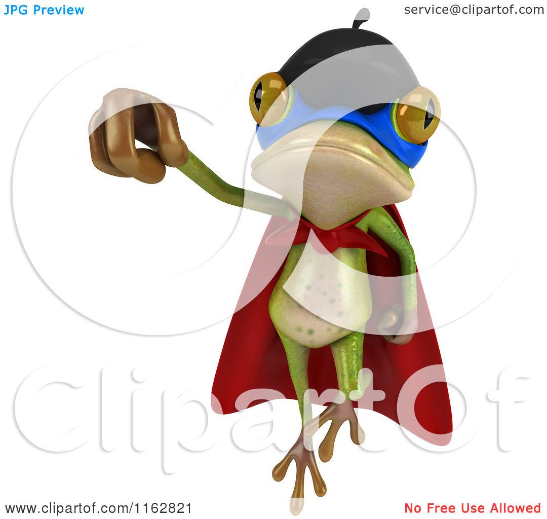 Super frog clipart freeuse download Clipart of a 3d French Super Frog Flying 2 - Royalty Free CGI ... freeuse download