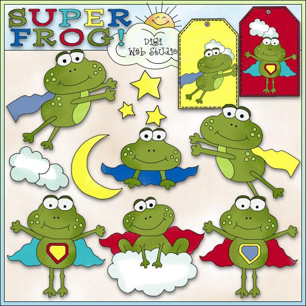 Super frog clipart clip free stock Super Frog 1 - NE Cheryl Seslar Clip Art : Digi Web Studio, Clip ... clip free stock
