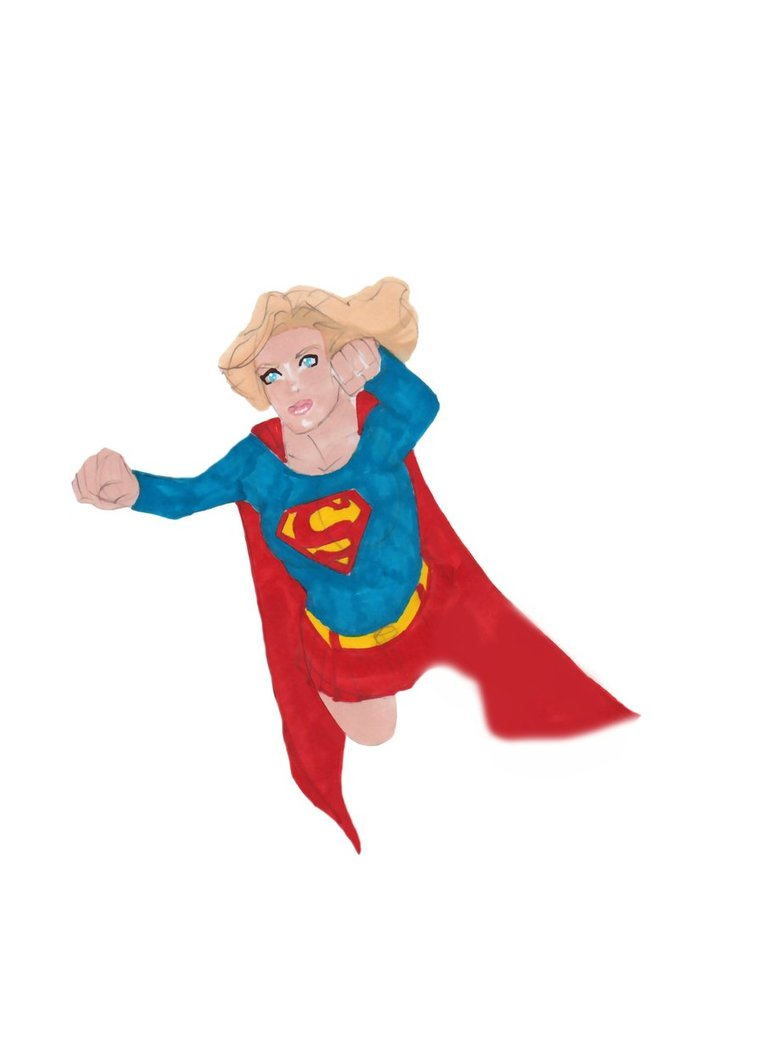 Super girl clipart svg black and white library Supergirl Clip Art - Cliparts and Others Art Inspiration svg black and white library