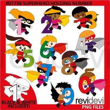 Super hereo math clipart clip art free stock Superhero Holding Number Clip Art - Math Numbers commercial ... clip art free stock